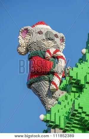 Koala made by Lego bricks