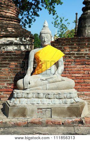 Wat Yai Chai Mongkhon Temple in Ayutthya, Thailand