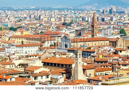 Florence. View of the city from above.