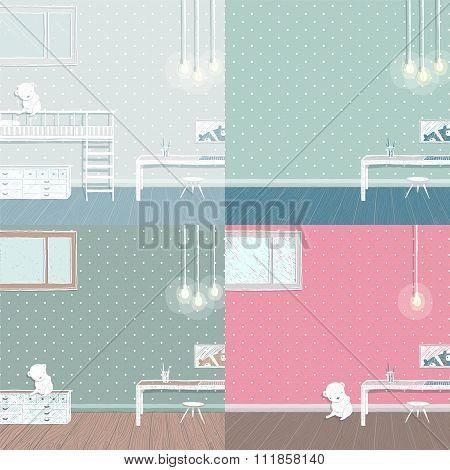 Children room background set