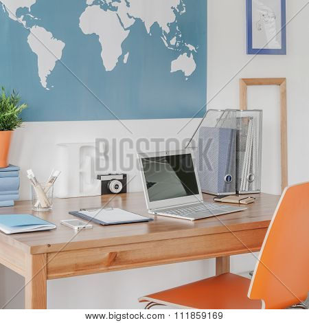Study space in teenager room