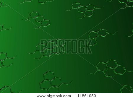 Background With Structural Chemical Formulas