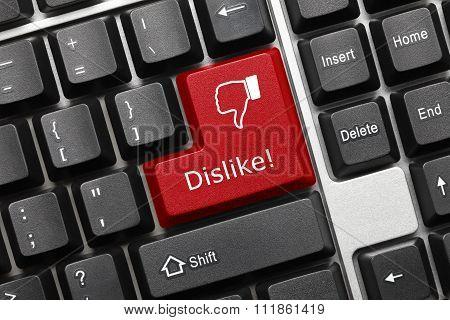 Conceptual Keyboard - Dislike (red Key)
