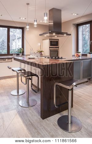 Spacious Stylish Open Kitchen