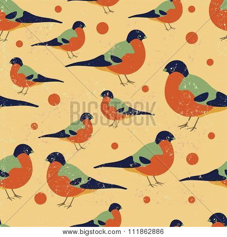 Seamless Bulfinch Pattern