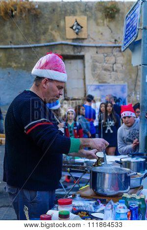 Typical Christmas Market Scene, Haifa