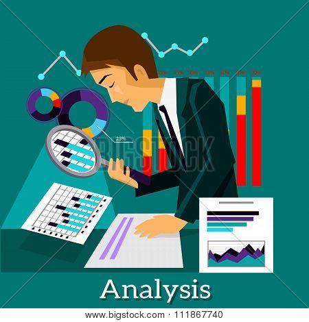 Man Analysis Infographic and Data