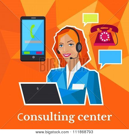 Consulting Center Flat Design Concept