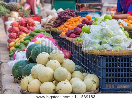 Various Sweet Fruits For Sale On The Market