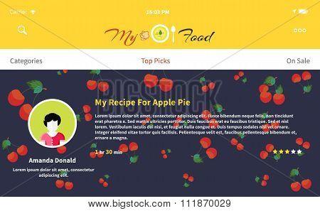 Web Page My Food Recipe Design