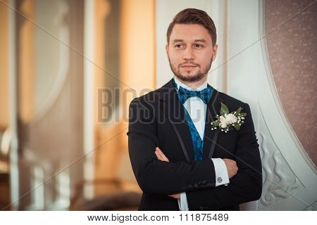 Bridegroom Preparing For The Wedding