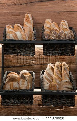 Bread On Bakery's Wall