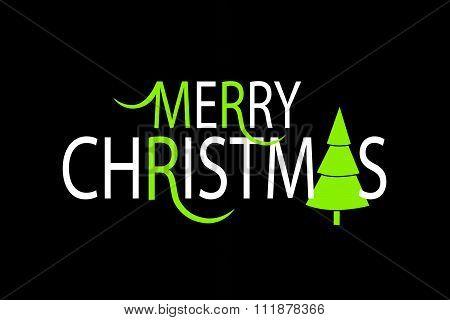 Flat Design Style Christmas Card