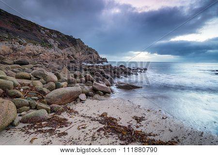 The Beach At Penberth Cove