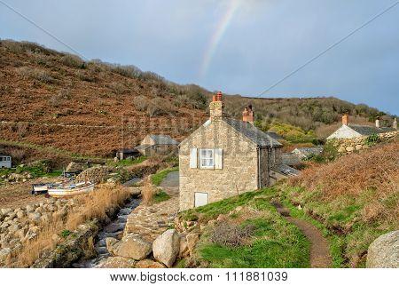 Rainbow Over Penberth Cove