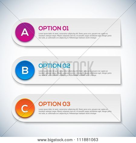 Modern 3d infographics options. Abstract 3D digital illustration Infographic.