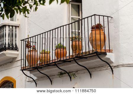 Pots on a Balcony