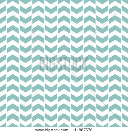 Tile vector pattern with green zig zag print on white background