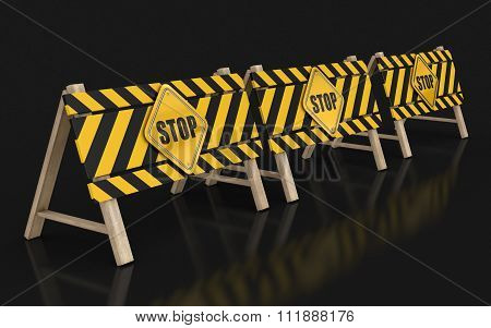 Stop sign. Image with clipping path
