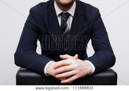 Businessman Preparing To Give A Large Bribe