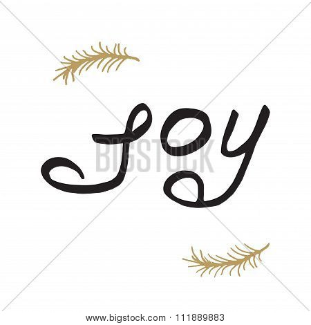 Greeting card - joy. Merry Christmas background