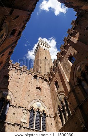 Torre Del Mangia - Tower In Siena, Italy