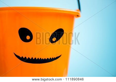 Trick Or Treat Empty Halloween Bucket Is Ready For The Candy Treats