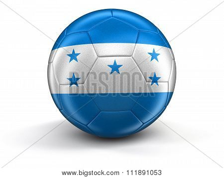 Soccer football with Honduras flag. Image with clipping path