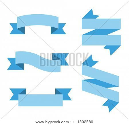 Flat vector ribbon labels set. Labels vector banners, vector ribbons. Ribbons sale, Holidays ribbons, flat ribbons. Vector ribbons icons. Ribbons vector icons flat style. Ribbons vector collection