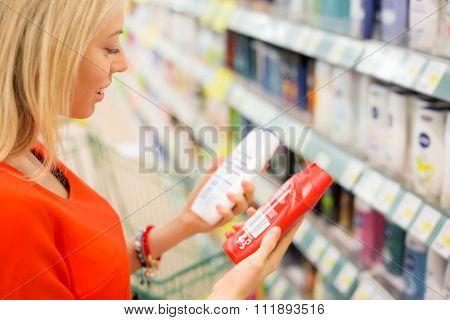 Woman looking at items