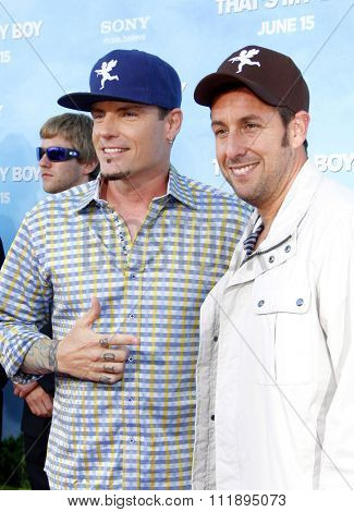 Vanilla Ice and Adam Sandler at the Los Angeles premiere of