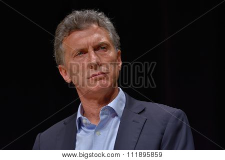 Mauricio Macri During A Press Conference