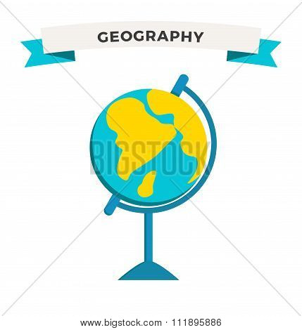 World Globe Earth school education icon vector