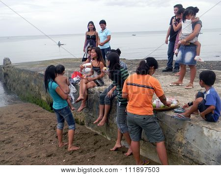 Picnic at the Beach in the Philippines