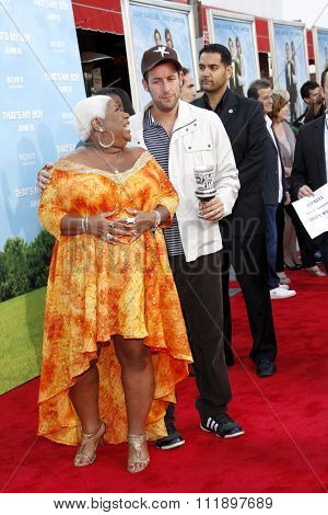 Adam Sandler and Luenell Campbell at the Los Angeles premiere of