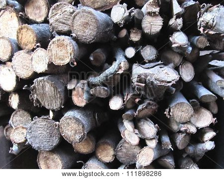 Chopped firewood