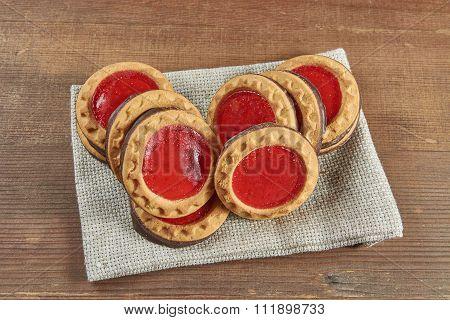 Cookies With Cherry Jam