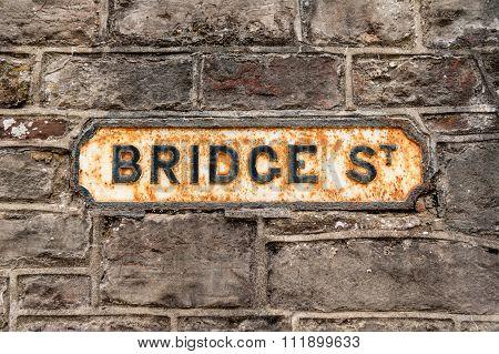 Bridge Street Sign