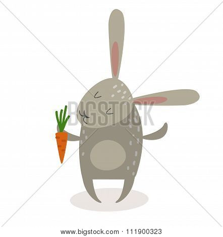 Greeting card Easter rabbit vector illustration