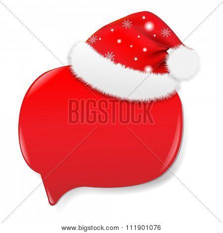 Xmas Sale Red Speech Bubble