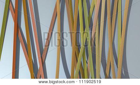 Ribbon Paper Background Orange