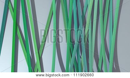 Ribbon Paper Background Green
