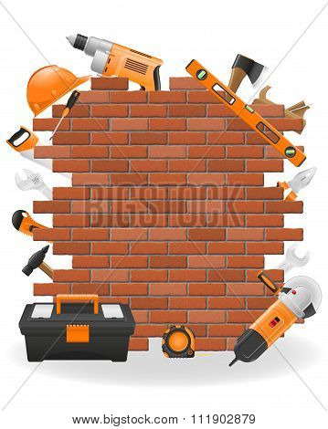 Tools For Repair Concept Icons Vector Illustration
