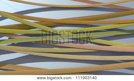 Ribbon Background Orange