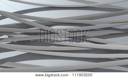 Ribbon Background White