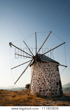 Row of disused windmills in Bodrum Turkey.