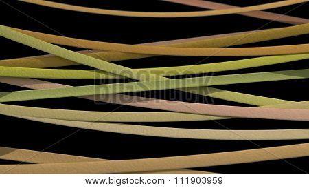 Ribbon Background Yellow Black