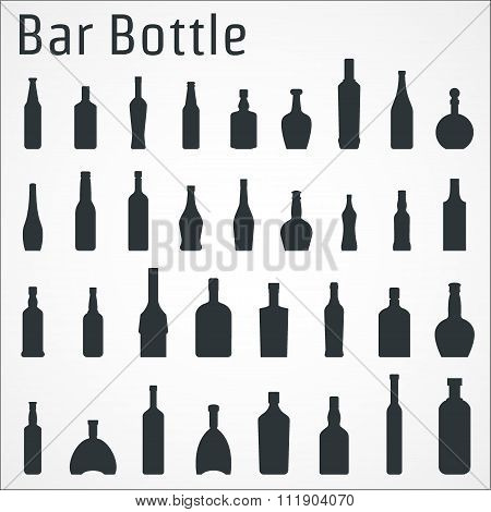 Bar bottle icon