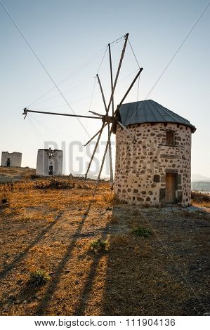 Row Of Disused Windmills in Bodrum Turkey