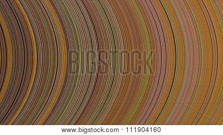Curve Ribbon Pattern Orange